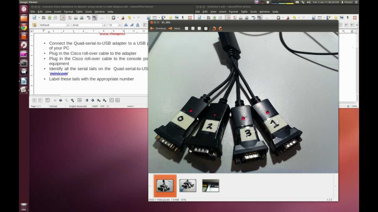 Connecting Ubuntu to Real Cisco Hardware Using USB-to-Serial Adapter