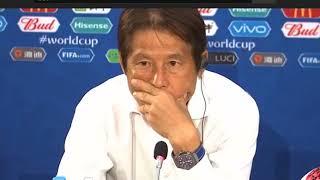 西野朗 日本代表 ベルギー戦 試合後インタビュー【2018 FIFAワールドカップ】