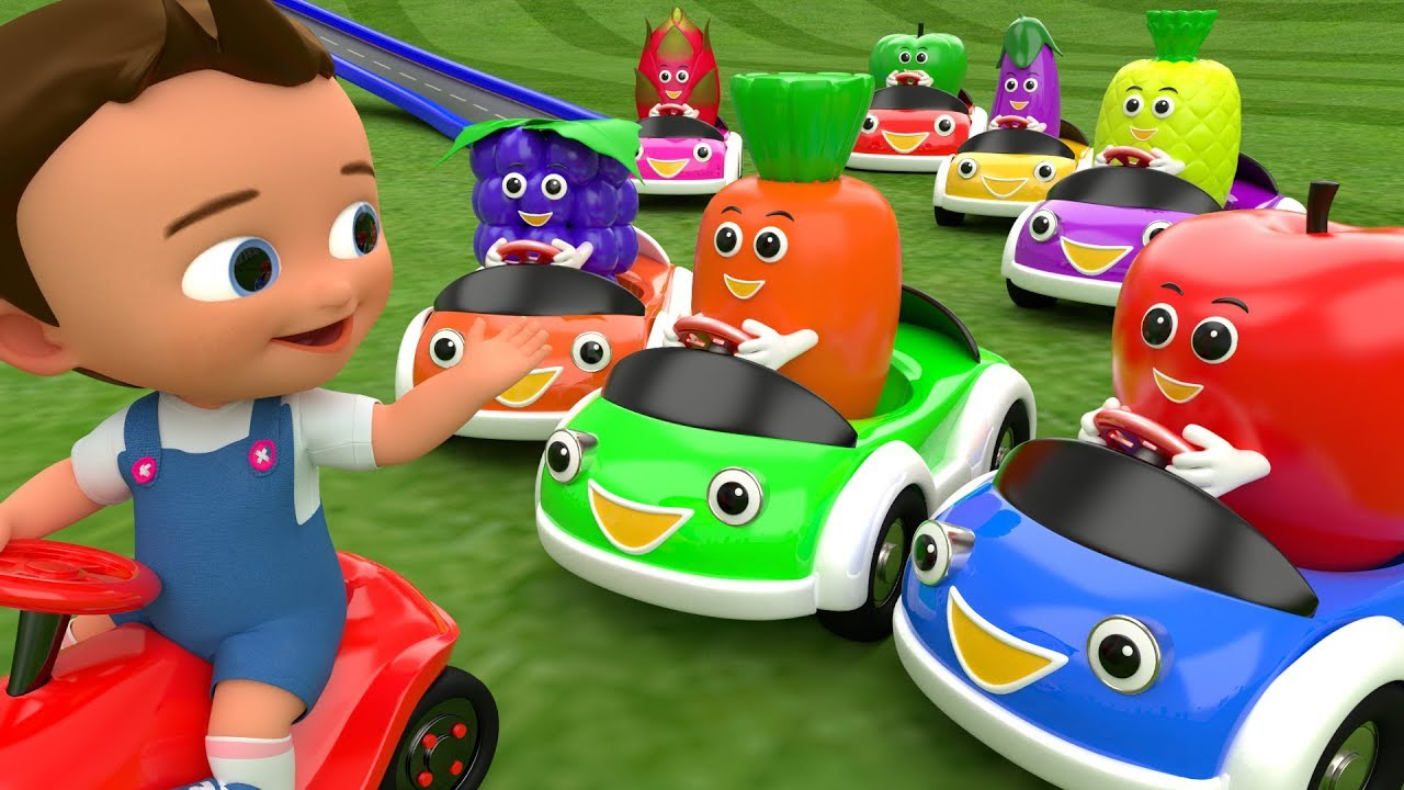 Colors & Fruits Names for Children to Learn with Little Baby Cartoon ...