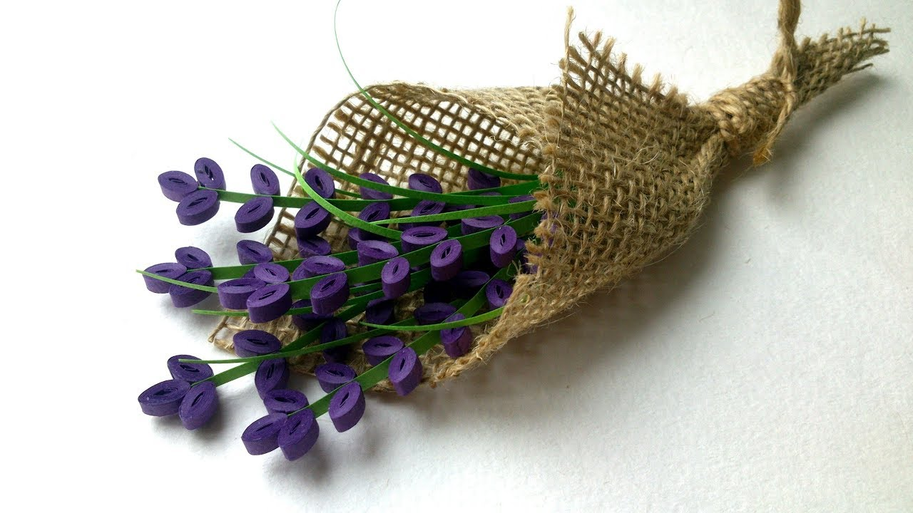 Bouquet Of Quilling Lavender Flowers Youtube