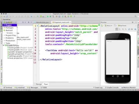Finish Creating a New Project - Developing Android Apps