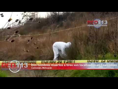 VIDEO Dos hombres muertos a tiros son localizados en el municipio de Coalcomán