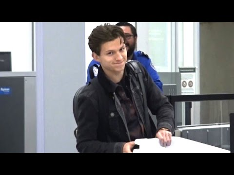 Superhero Tom Holland Makes His Way Through TSA Security