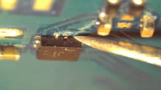 Восстановление контактов на микросхеме(После попадания жидкости на печатную плату у элементов на которые попала влага начинают отгнивать контакт..., 2012-12-06T17:25:29.000Z)