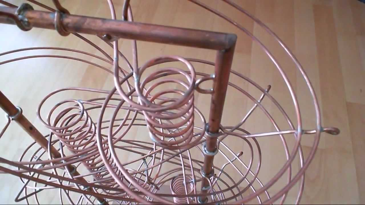 Copper marble run sculpture - Kupfer Murmelbahn - rolling ball ...