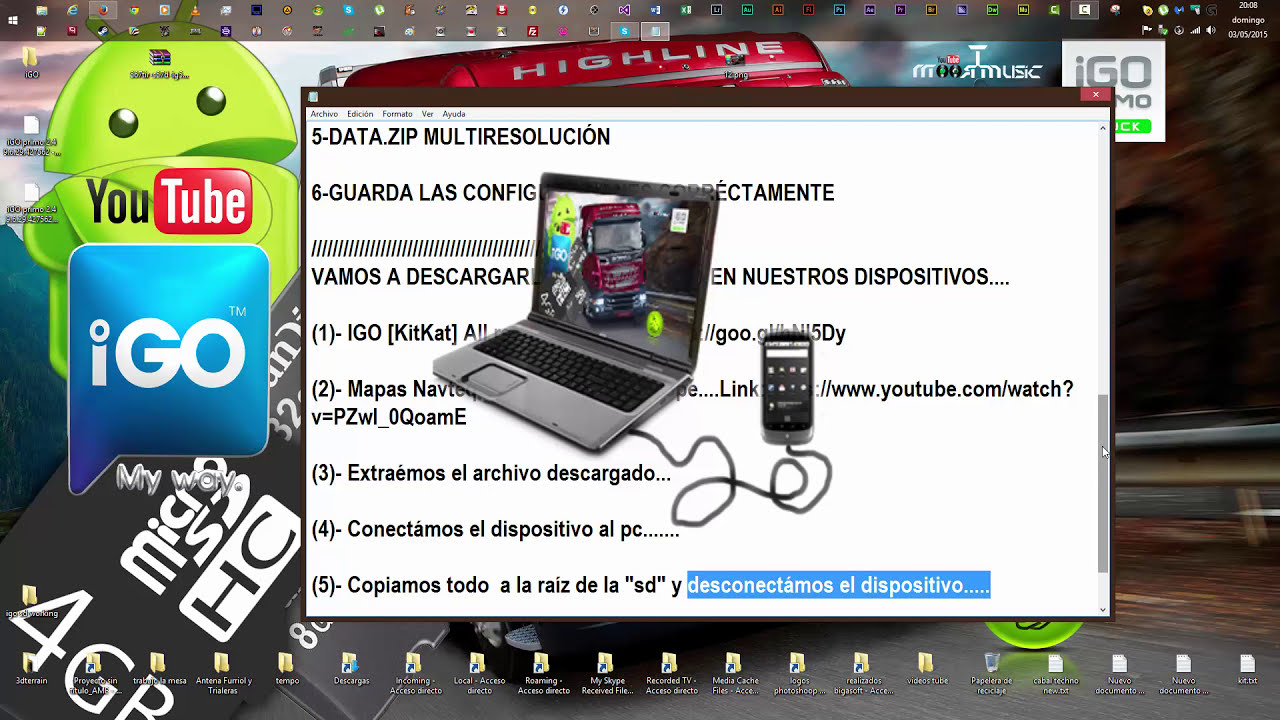 Igo Primo Truck Android 4 4 2 [Kitkat] Sd Card + Navteq Q3 R3 Full  Europe,Youtube,Mega,Android   Jj Opcional 10:43 HD