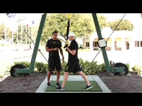 TRX For Golf: TRX Rotational Row to Press