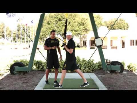 TRX For Golf: TRX Rotational Row to Press