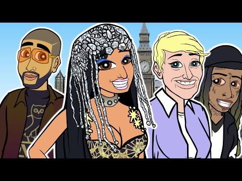 Nicki Minaj - No Frauds ft. Drake, Lil Wayne (CARTOON PARODY)