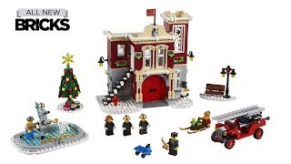 Lego Creator Expert 10263 Winter Village Fire Station Official Images - 1,166 Pieces - $99.99