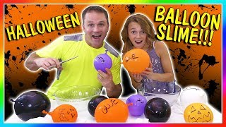 MAKING HALLOWEEN BALLOON SLIME | We Are The Davises
