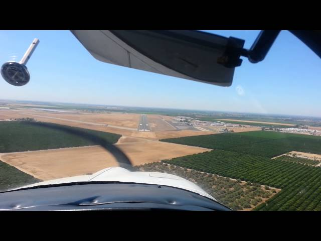 Landing at Porterville airport in California