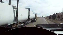 Oversize load on I-40 in New Mexico