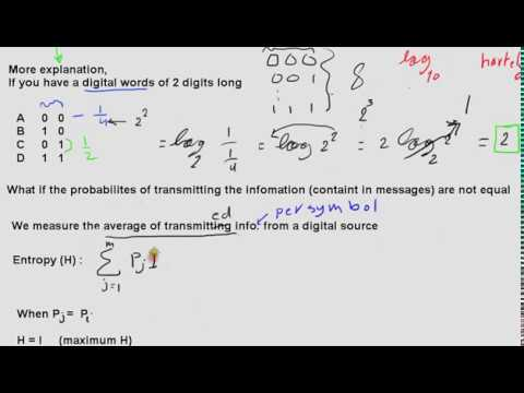 Telecommunication - information and probability (Arabic)
