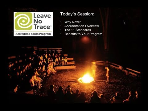 WEBINAR Leave No Trace: Youth Program Accreditation