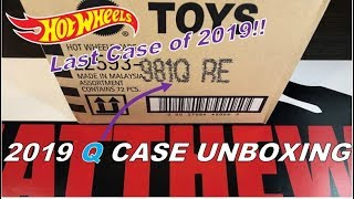 HOT WHEELS 2019 Q CASE UNBOXING - Great Case! Jaguar, Lambo, Porsche & More!