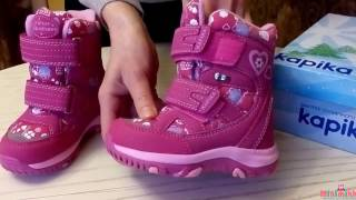 видео Мембранная обувь для детей