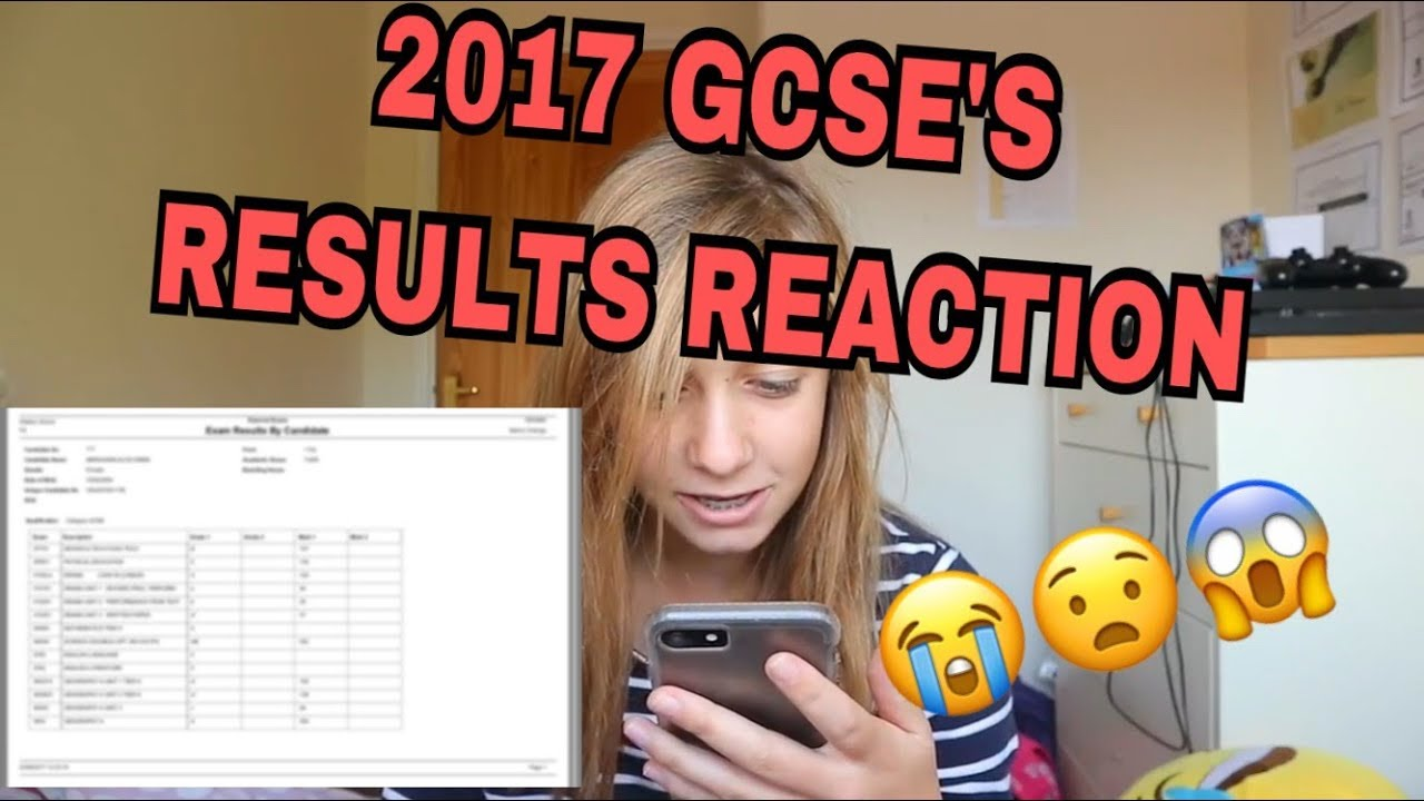 GCSE Results Day 2017 (Reacting To My Results)