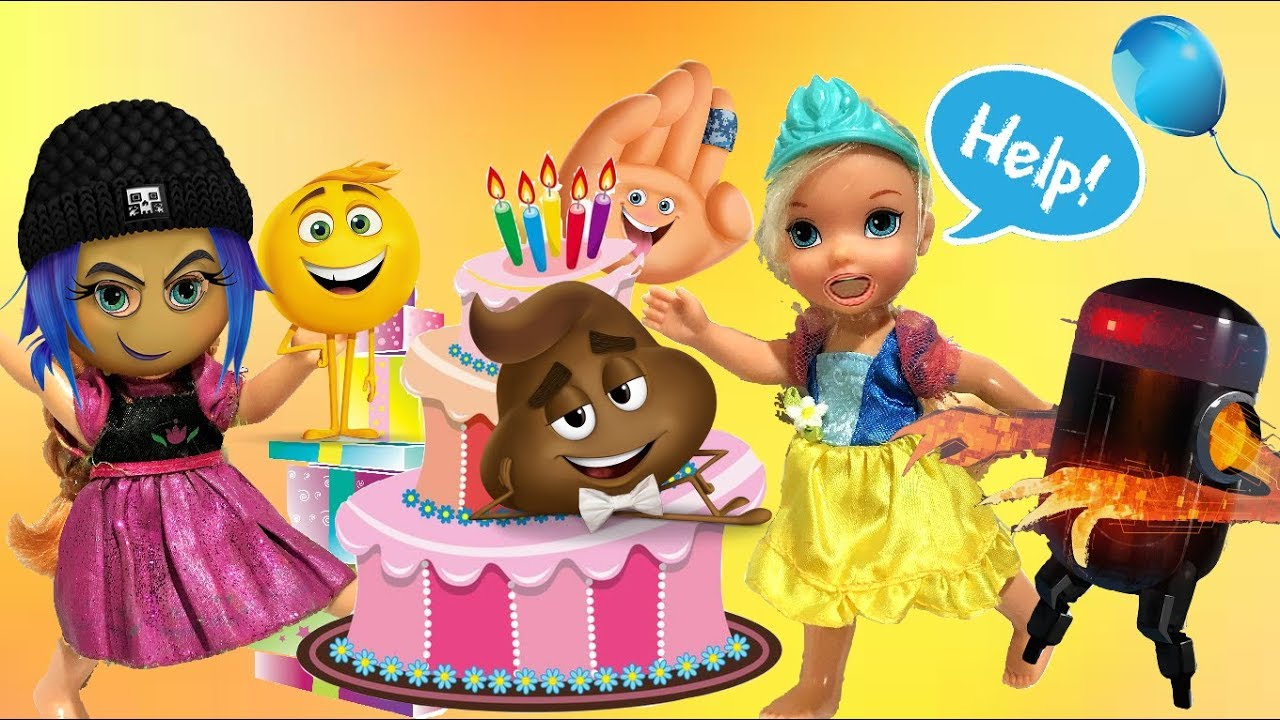 Annia And Elsia Toddlers Go To Barbies Emoji Movie Birthday Party Skipper Just Dance Disco Chelsea