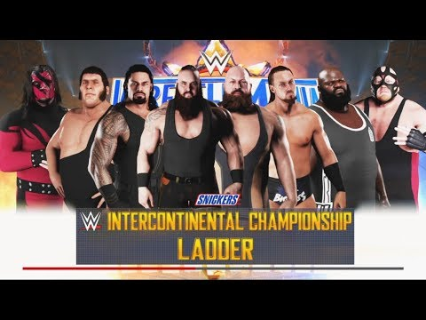 WWE 2K18 - 8 Man Ladder Match--intercontinental championship -WWE-2K18- Gameplay (PS4)