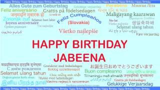 Jabeena   Languages Idiomas - Happy Birthday