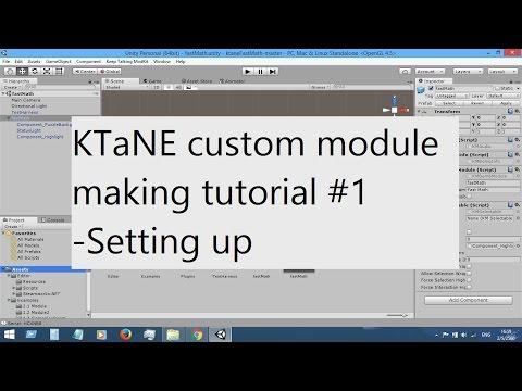 KTaNE custom module making tutorial #1 - Setting up