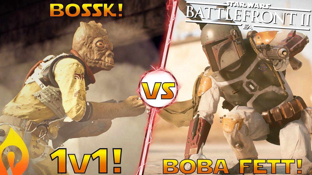 Boba Fett Vs Bossk Gameplay 1v1 Duel In Star Wars Battlefront 2