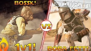 Boba Fett vs Bossk Gameplay! 1v1 Duel In Star Wars Battlefront 2!