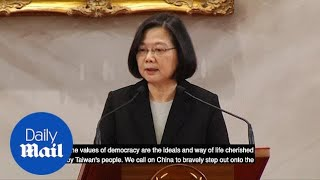 Taiwan's president rejects China's call for reunification