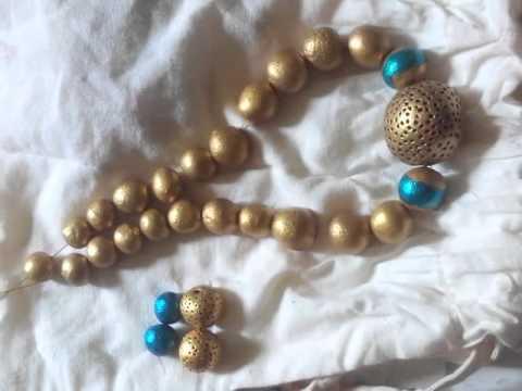 Terracotta jewelry making - YouTube