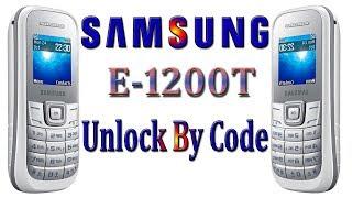 Samsung E1200T Phone Unlock By Hand Code