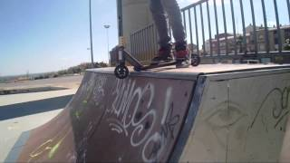 Scooter freestyle in Skate park calahorra