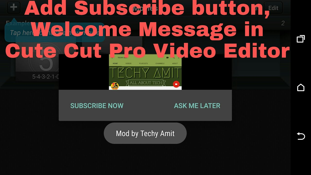 Tutorial || APK Editor || How to Add Splash Screen, Popup and Youtube Link  in Cute Cut Pro