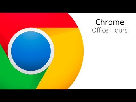 Chrome Apps Office Hours: Building Apps with Web Intents