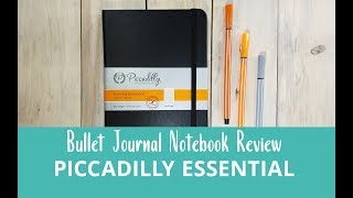 Picadilly Essential Notebook - bullet journal review + pen test