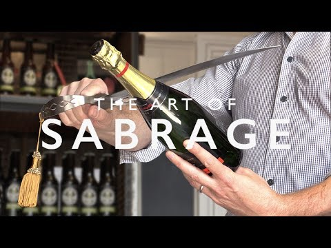 How to sabre a champagne bottle by WBC