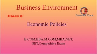 Economics Policy With MCQ (UGC NEt/ SET Commerce 2017 )(Hindi)