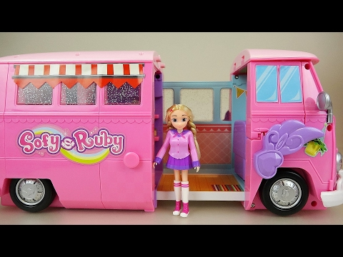 Baby doll and Ruby camping car toy picnic play