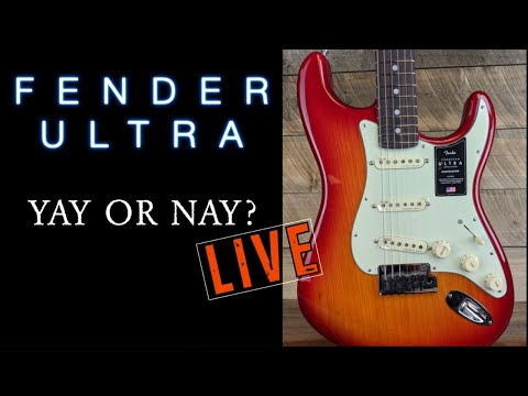 I Tried The Fender Ultra Line. ( Live @ Midnight Eastern)