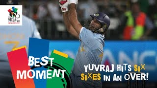 Yuvraj Singh slams six sixes off Stuart Broad | ENG v IND | T20 World Cup 2007