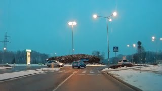 Wymuszenie pierwszeństwa na rondzie w Ostrołęce