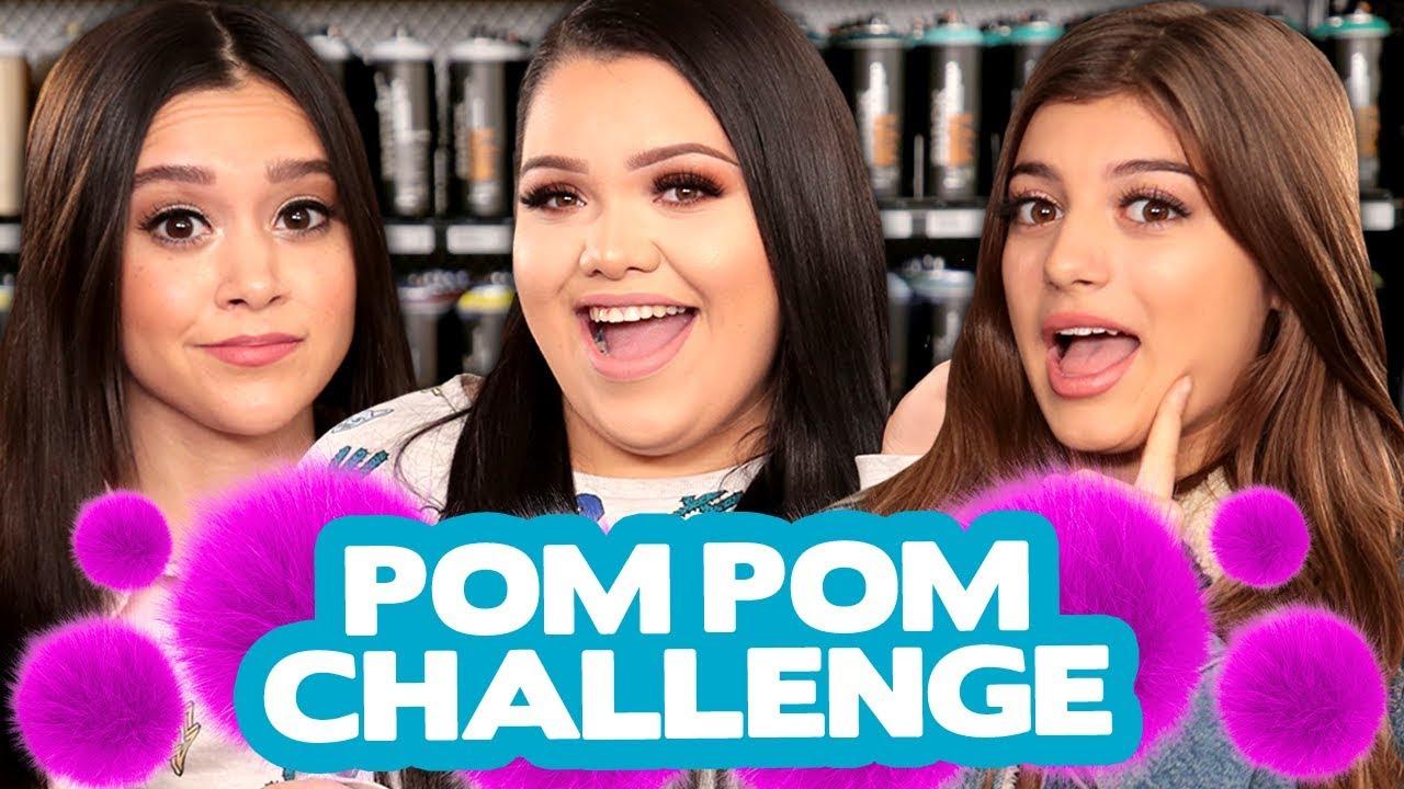 DIY POM POM Decor CHALLENGE w/ Karina Garcia, Megan Nicole & Gabriella  Whited!