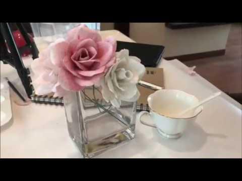 How to DIY rose ? |Crepe paper Art