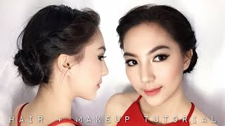 Prom/Graduation Makeup + Hairdo Tutorial || #DEVIENNAMAKEUP