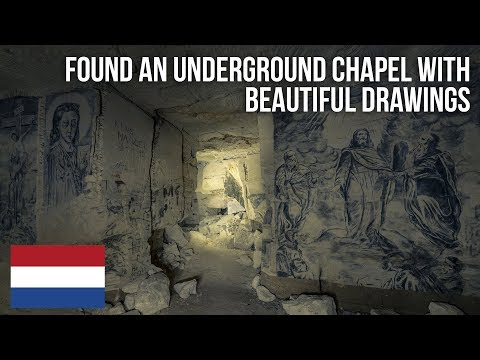Found an underground Chapel with beautiful artwork in an abandoned Quarry