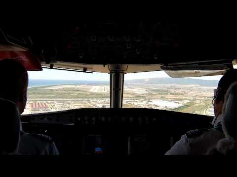 Full flight HD Airbus  Cockpit in and out of Barcelona airport plus ATC