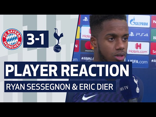 PLAYER REACTION | RYAN SESSEGNON AND ERIC DIER ON BAYERN DEFEAT | Bayern Munich 3-1 Spurs