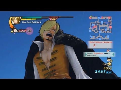 One Piece Pirate Warriors 3 Vinsmoke Sanji Level 100 Gameplay |