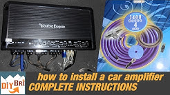 Installing a Car Audio Amplifier From Start to Finish
