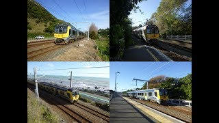 Matangi EMUs on the Kapiti line